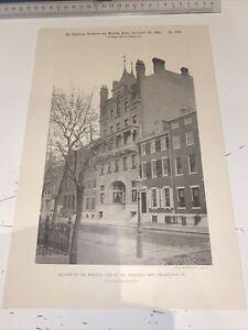 1891 American Architect Building Athletic Club Schuylkill Navy Philadelphia