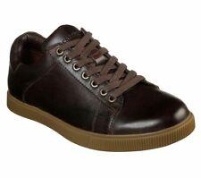 Mens SKECHERS Brown Leather Shoes Walking Trainers Size UK 11 Volden Fandom