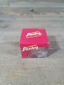 New Vtg James Industries Metal Original Slinky, Box w/ Instructions