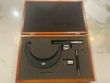 Starrett Vintage No 733 Micrometer 5 6 Inch Wooden Box Amp Original Extras