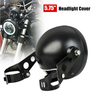 """Universal 5.75"""" Motorcycle Headlight Cover  Lamp Housing w/Mounting Metal Stents"""