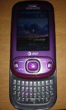 Unlocked Samsung Strive Burgundy SGH-A687 Cell Phone AT&T 3G slider qwerty