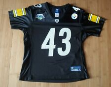 Pittsburgh Steelers Troy Polamalu Super Bowl XLIII Womens Jersey Size M Nfl