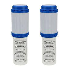 "2 X Filtre Combinant Eau Sédiments / Charbon Actif 10 "" Wasserfilterung"