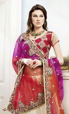 Indian Bollywood Designer Party Wear Wedding Bridal Embroidery Lehenga Choli New
