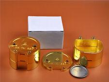 2 pieces Dental Lab  Denture Flask Copper Brass For Dental Lab