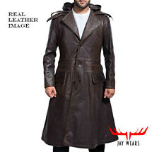 Men's Assassins Creed Syndicate Jacob Frye Costume Hoodie Leather Trench Coat
