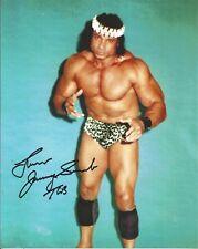 WRESTLING LEGEND JIMMY SNUKA SIGNED 8X10 SUPERFLY WWF HOF WWE WRESTLEMANIA HEEL