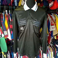 BLACK 1990 WORLD CUP REFEREE FOOTBALL SHIRT L/S ADIDAS SIZE ADULT L