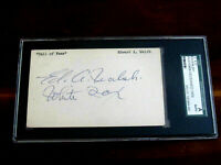 ED WALSH 1906 WSC CHICAGO WHITE SOX HOF SIGNED AUTO VINTAGE INDEX CARD SGC GEM