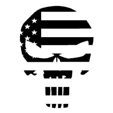 Decal Vinyl Truck Car Sticker - Marvel Comics Punisher Skull Flag