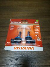 Sylvania Silverstar Ultra H11 55W Two Bulbs Head Light Low Beam Replacement OE