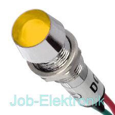 1 st LED; konkav; 12VDC; Öffng Ø14,2mm; IP40; Messing Kontrollleuchte