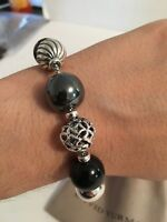 DAVID YURMAN Elements 13-15mm Bead Bracelet Black Onyx and Hematite Retail $695
