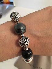 DAVID YURMAN Elements 13-15mm Bead Bracelet Black Onyx and Hematite Retail $695