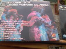 DOPPIO LP G/F CLAUDE FRANCOIS EN PUBLIC SOUVENIR 78 N/M
