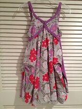 Deux Par Deux Girls Purple Lavender Floral Sundress Size 4
