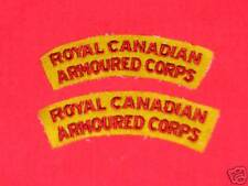 ROYAL CANADIAN ARMOURED CORPS Shoulder Flashes
