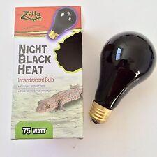 Zilla Black Light Bulb Reptile Night Heat Lamp Incandescent 75 Watt