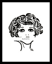 1926-rpt CLARA BOW The IT Girl MANTRAP SEXY Silent Movie Star Caricature MATTED