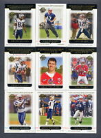 2005 Topps New England Patriots TEAM SET Tom Brady MINT