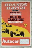 BRANDS HATCH 12 Mar 1967 FORMULA 1 RACE OF CHAMPIONS Official Programme