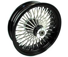 18 X 5.5 Black 52 Fat Mammoth Spoke Rear Wheel Rim Harley Touring ABS 2009-2017