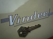 "VINDEC Bicycle Straked Cut Text STICKER 6"" Vinyl Vintage Retro Cycles High Riser"