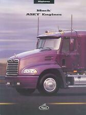 Mack ASET Engines Truck Prospekt brochure 2002 LKWs Nutzfahrzeuge Amerika Lkw