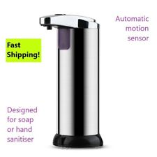 Stainless steel hands free liquid sanitizer/soap dispenser(office, bathroom)