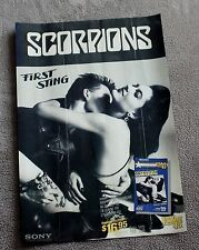 SCORPIONS First Sting 1984 B&W Sony Video PROMO Music Mini Pinup Poster G C4