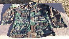 US Military Surplus Woodland Camo Pattern Mens Medium Regular Uniform Shirt