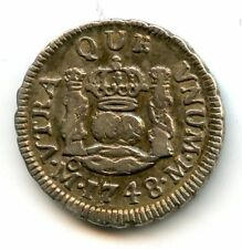 Mexique Ferdinand VI (1746-1759) 1/2 Real 1748 Mexico KM 67.1