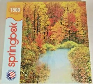 Springbok 1500 Puzzle Autumn Reflections New Sealed