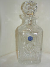 BEAUTIFUL STUART CRYSTAL MADE IN GREAT BRITAIN SQUARE DECANTER UNUSED