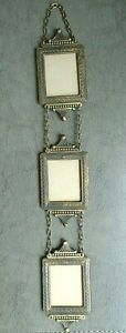Antique Gold 3 Chain Interconnected Wall Hanging Picture Photo Frame Set