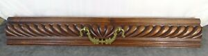 French Antique Large Hand Carved Architectural Drawer Front/Panel in Walnut
