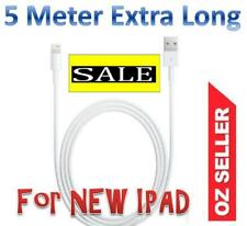 EXTRA Long 5 Metre USB  Cable Charger for Apple iPhone X/8/7/6/5 ipad 4 ipad Air