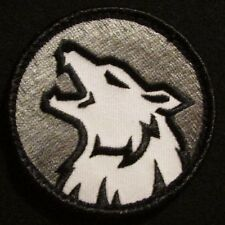 WOLF HEAD FIERCE DOG K9 MORALE ISAF ARMY SWAT VELCRO® BRAND FASTENER PATCH
