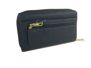 Liz Claiborne Wallet Purse Bag Accordion Zip Around Navy Blue NWT
