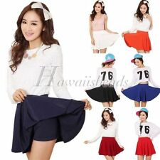 Cotton Blend Pleated Skirts for Women