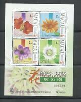 Macao Macau |1993 | Flowers MiniSheet + Stamps | MNH