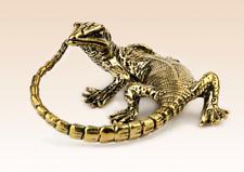 Miniature Bronze Figurine lizard sculpture art manual processing rare