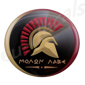 """MOLON LABE """"come and take them"""" 3D Decal sticker Spartan for Cafe Racer helmet"""
