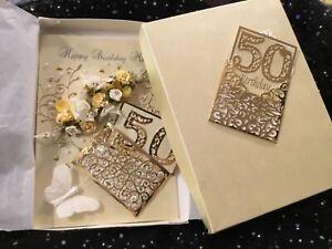 MUM BOXED BIRTHDAY CARD  50, 60, 70, 80  40 30 21 LEMON IVORY & GOLD