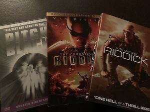 3-Disc DVD - Pitch Black / Chronicles of Riddick Collection (Originals) RARE HTF