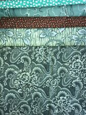 New listing 5 Yards Quilt Fabric Kit - Timeless Treasures & Others - Teal