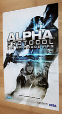 Alpha Protocol / Blur Arcade game rare Poster PS3 Xbox 360 Playstation 3 sega