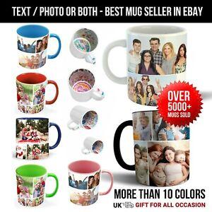 Personalised Mug Photo Custom Text Magic Coffee Tea Cup Father's Day Mug Gifts