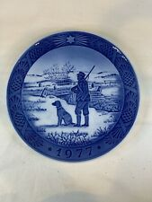 Royal Copenhagen Christmas Plate Immervad Bridge 1977 c648